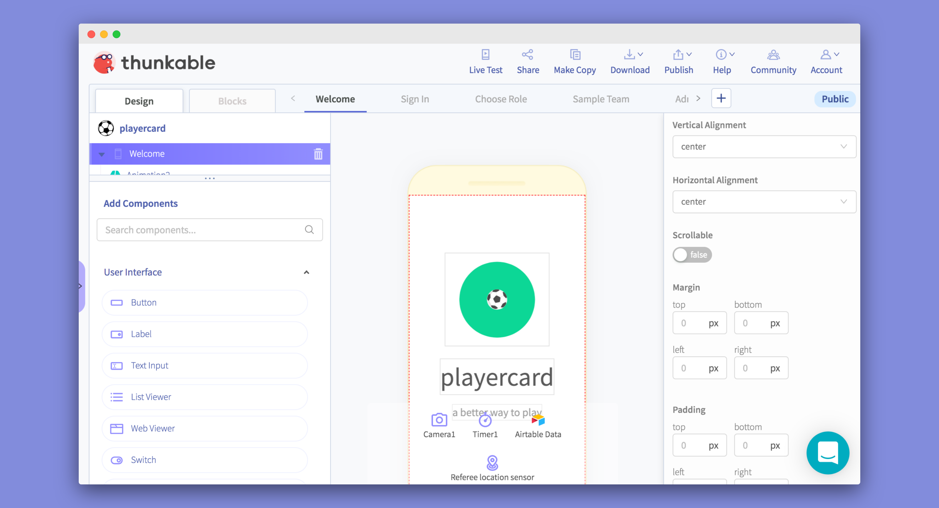 nocode app idea prototype