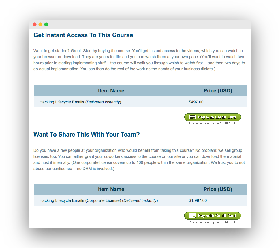 productized course offering