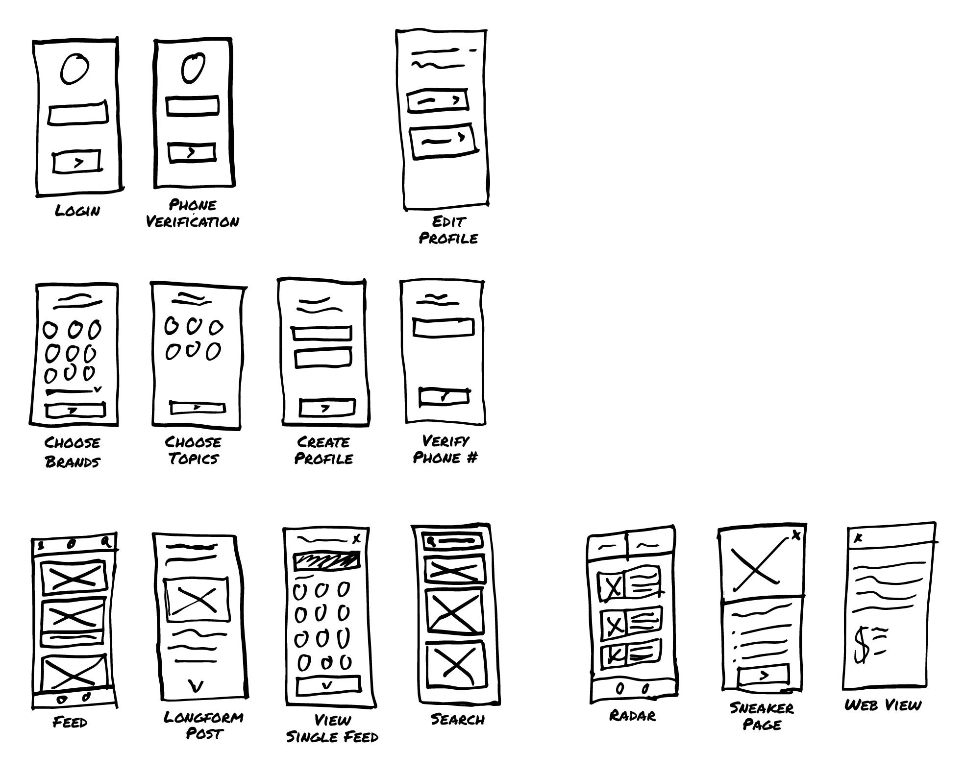 app design sketches