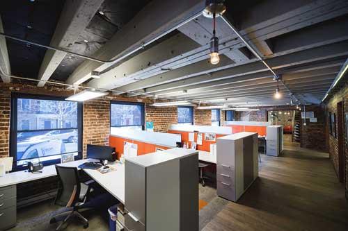 Pizzano office interior