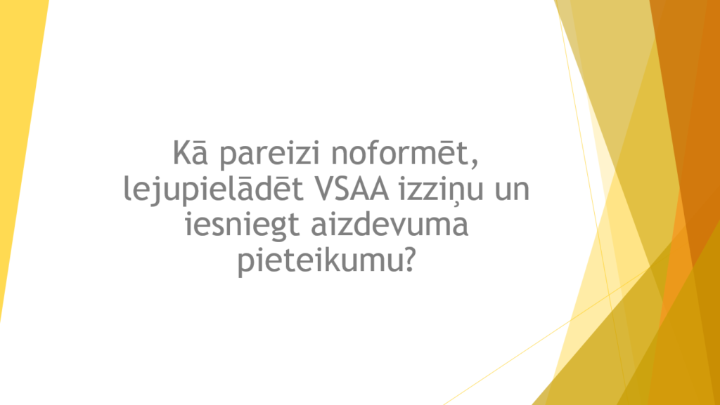 VSAA izziņa