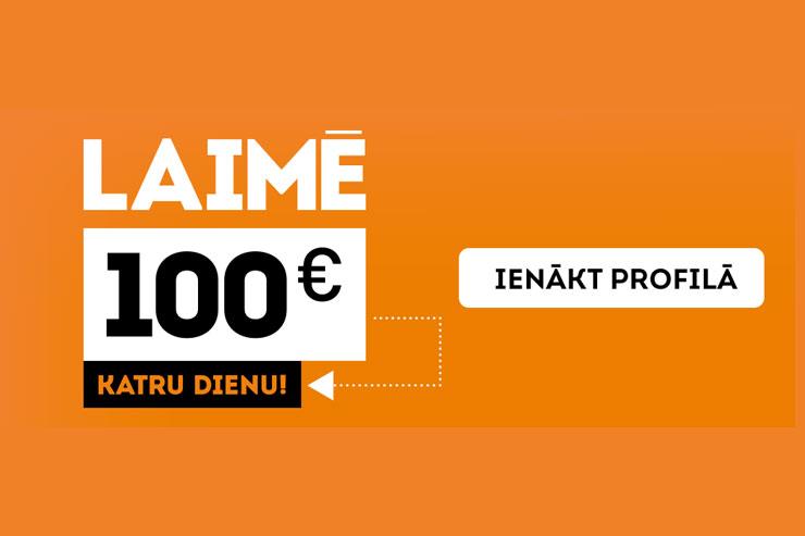 Laimē 100€ katru dienu! [Noslēdzies ]