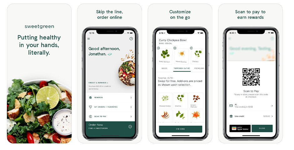 Sweetgreen's mobile app provides a clear benefit to the consumer of faster + easier ordering, especially during the lunch rush, and saves time in-store when consumers are looking to reduce in person interactions.  Source: www.webbyawards.com