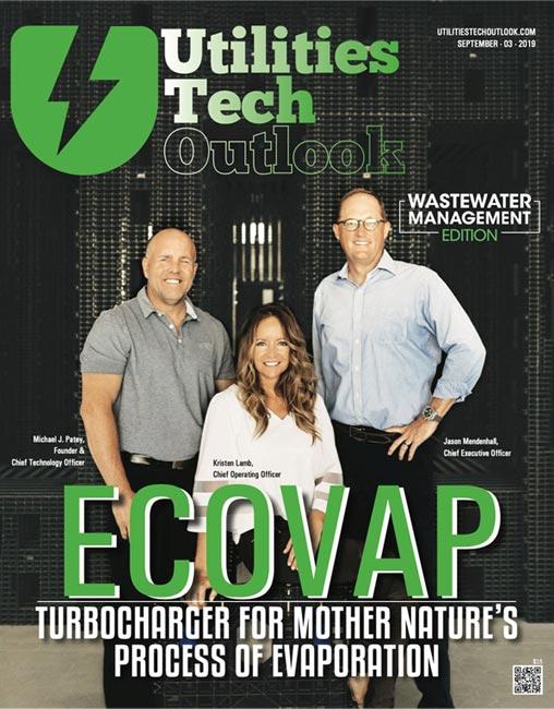 Utilities Tech Outlook magazine article showcasing ECOVAP technology