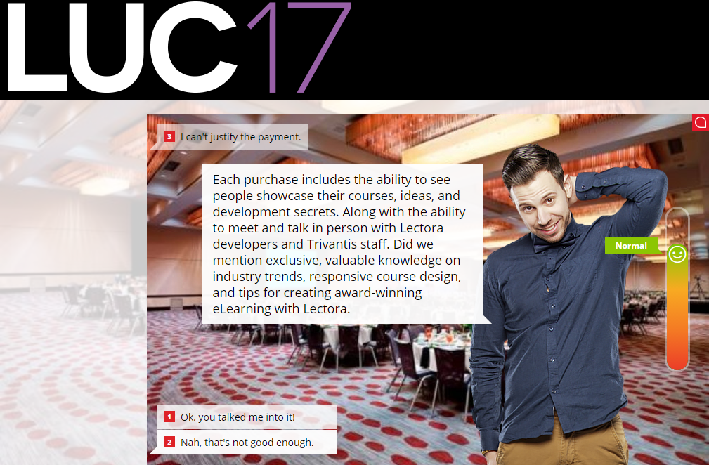 LUC 2017 scenario example