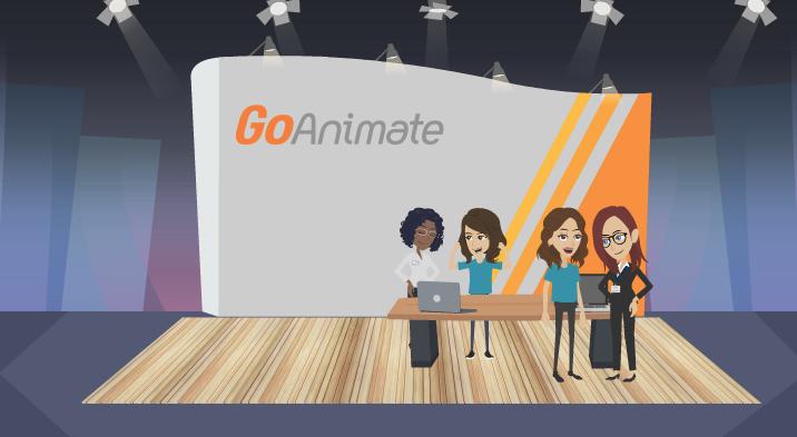 The GoAnimate booth created in GoAnimate