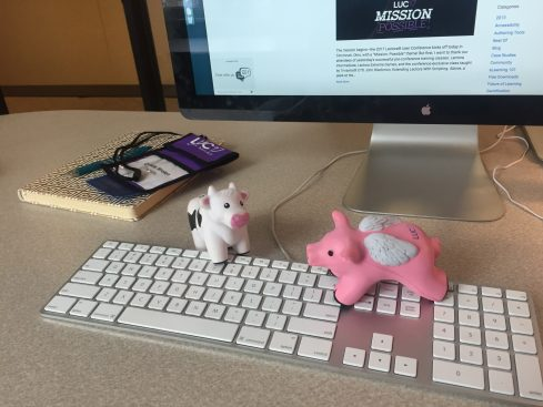 flying pig and cow
