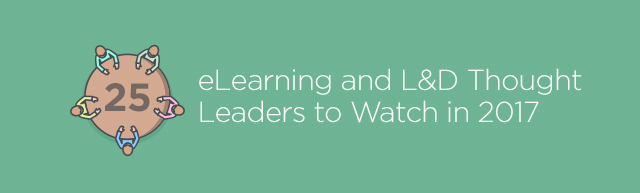 thought leaders to watch in elearning graphic