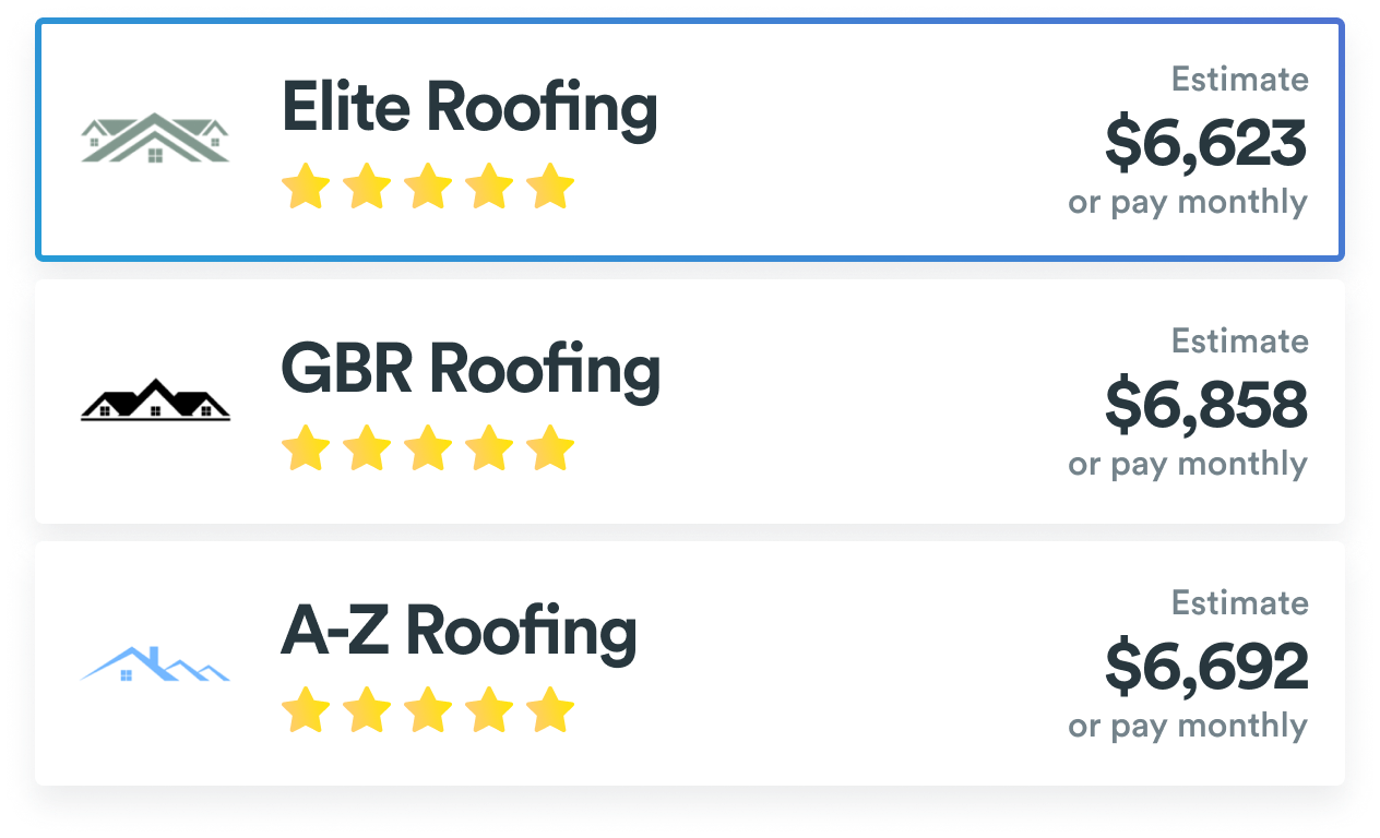 Get estimates from trusted roofers with Roofr