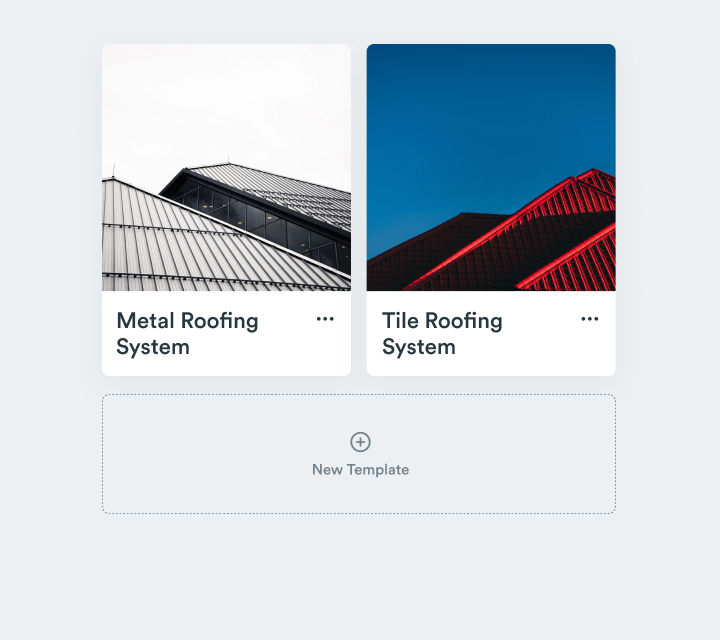 Roofr proposal templates