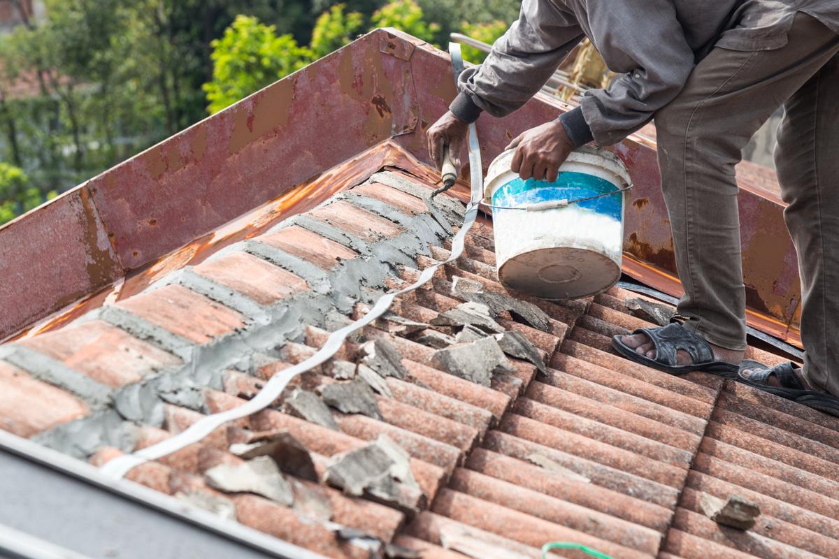 roof repair shingle cement