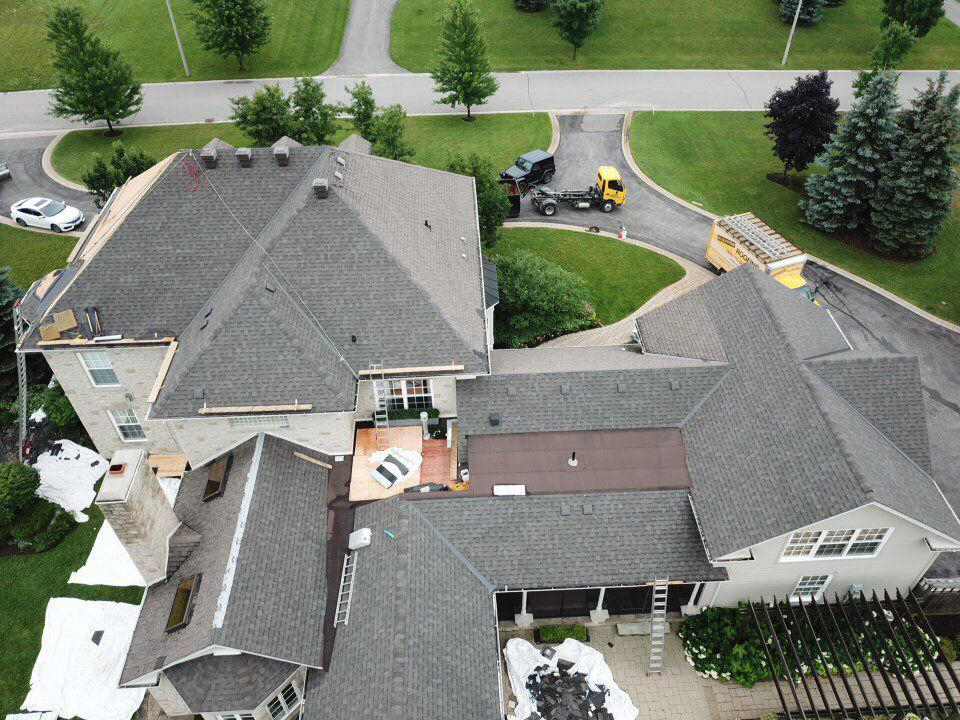 roof designs why aerial view