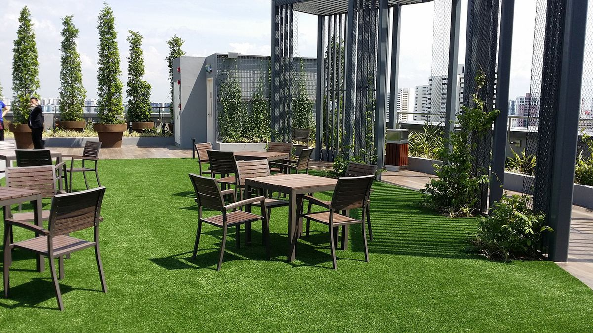 roof design why exyerior deck greenery