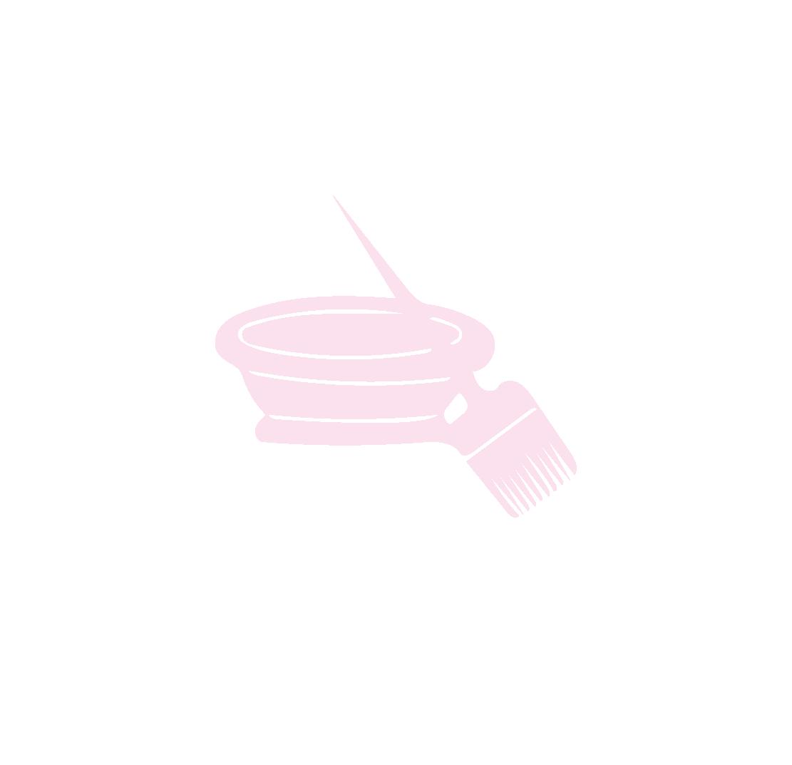 Colorist Brush Bowl Pink
