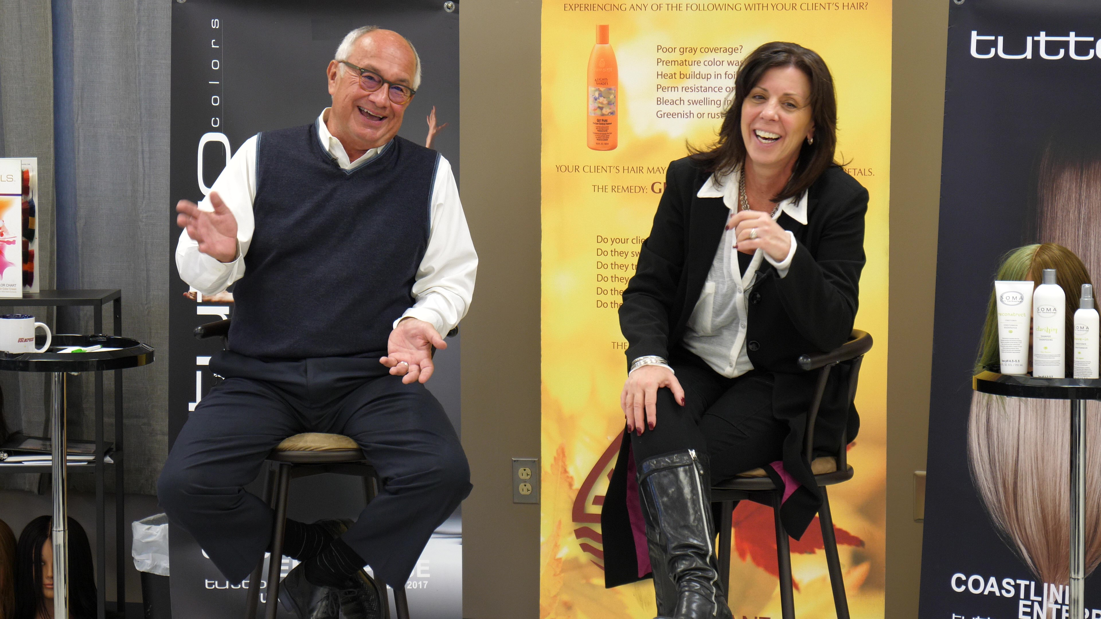 Leo Lapierre and Lisa Kelley Teaching Salon Education