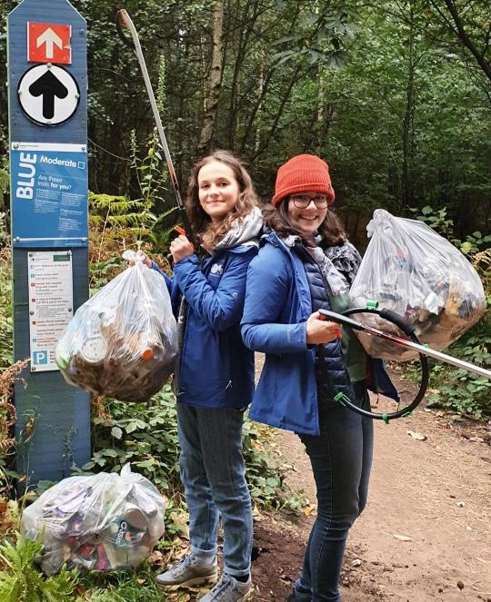kids against plastic litter pick up