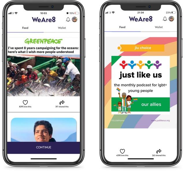 8 community feed - phone screens