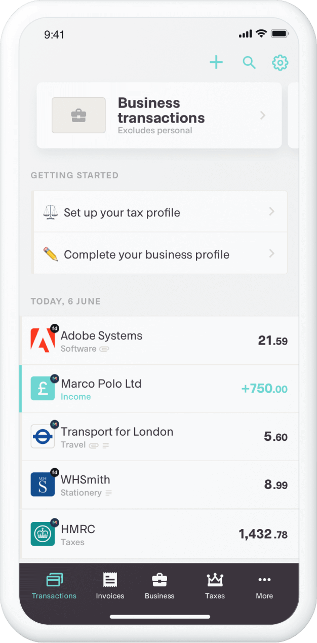 The Coconut app's expenses overview
