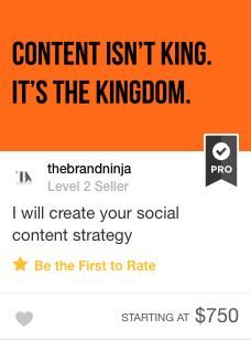 Fiverr Gig Social Content Strategy