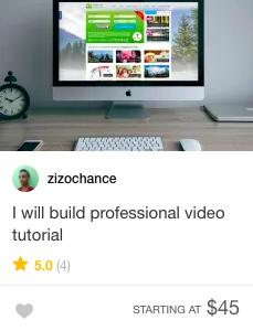 Fiverr video tutorial gig offer