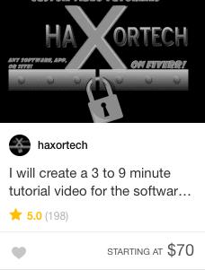 Video tutorial gig offer