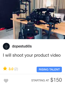 Product video Fiverr Gig