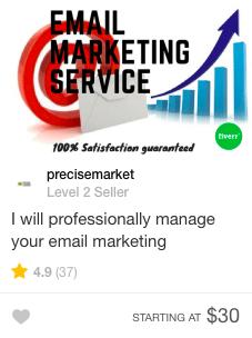 email marketing fiverr gig offer