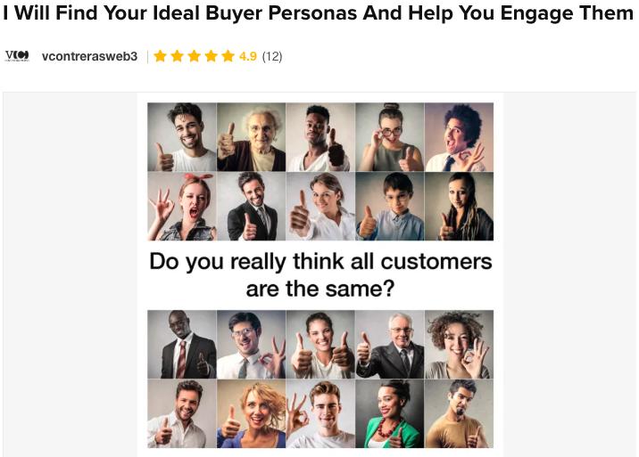 buyer personas Fiverr Gig