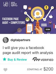 Fiverr social media audit specialists for hire
