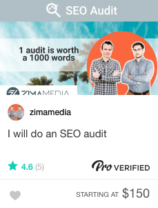 Fiverr SEO audit specialists for hire