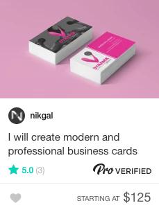 Fiverr business cards Gig
