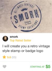 retro vintage logo design gig fiverr