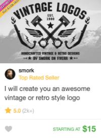 retro logo design gig fiverr