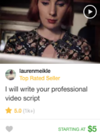 video script writing fiverr gig