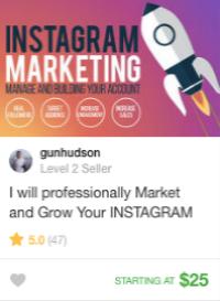 Instagram marketing gig services