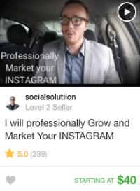 Instagram marketing gig offer