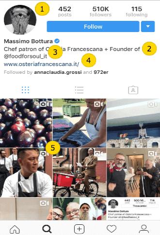 Instagram restaurateur page
