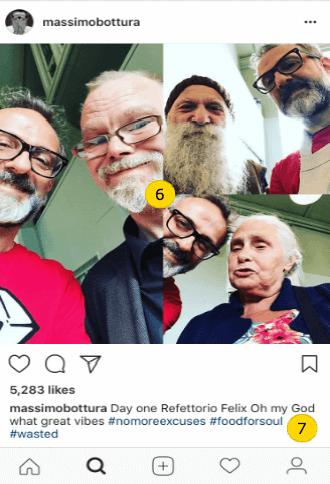 Instagram restaurant owner page