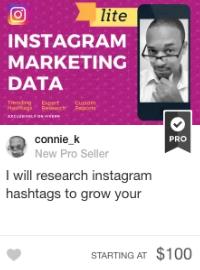 Fiverr instagram hashtag marketing Gig