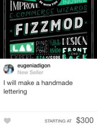 fiverr hand made lettering gig