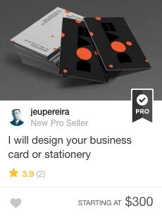 business card design gig on fiverr