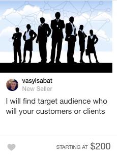 fiverr target audience gig