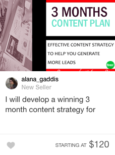 content strategy gig