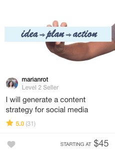 fiverr content strategy gig