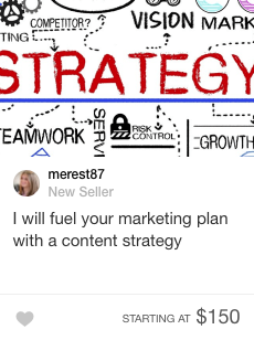 content strategy fiverr gig