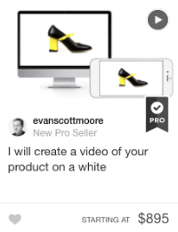 product video gig fiverr