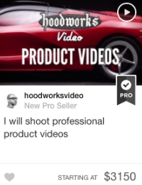 fiverr product video gig