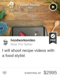 fiverr food video gig