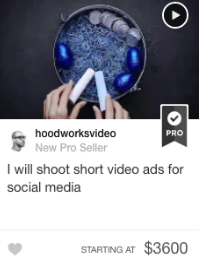 fiverr food short video gigs
