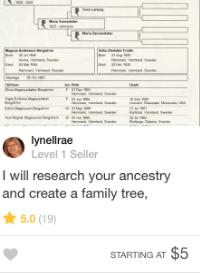 genealogy tree gig